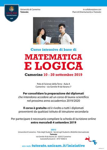 Corso di matematica e logica